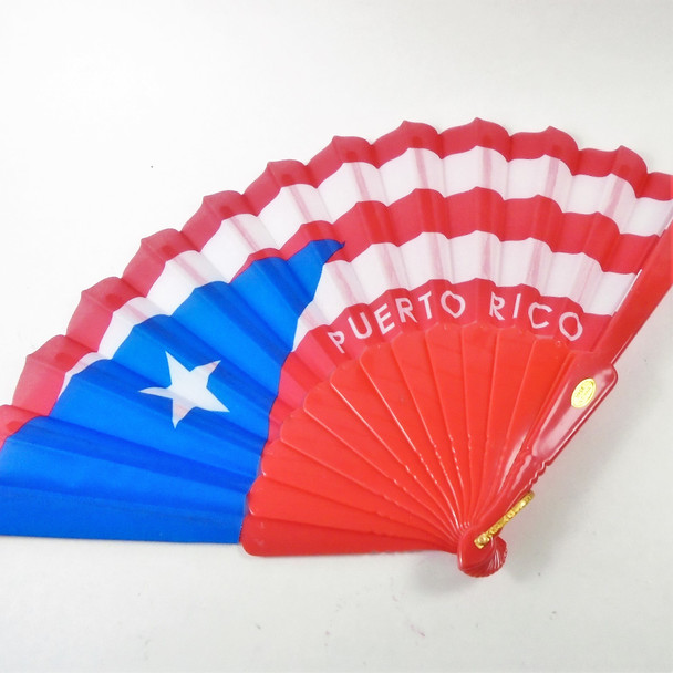 """9"""" Colorful Puerto Rico Theme  Hand Fans  .56 each"""