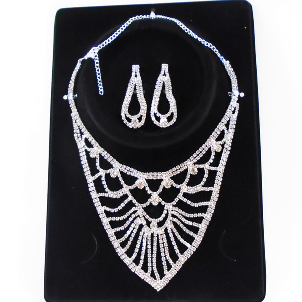 SPECIAL Silver Rhinestone Fashion Necklace Set sold by set $ 2.95 each