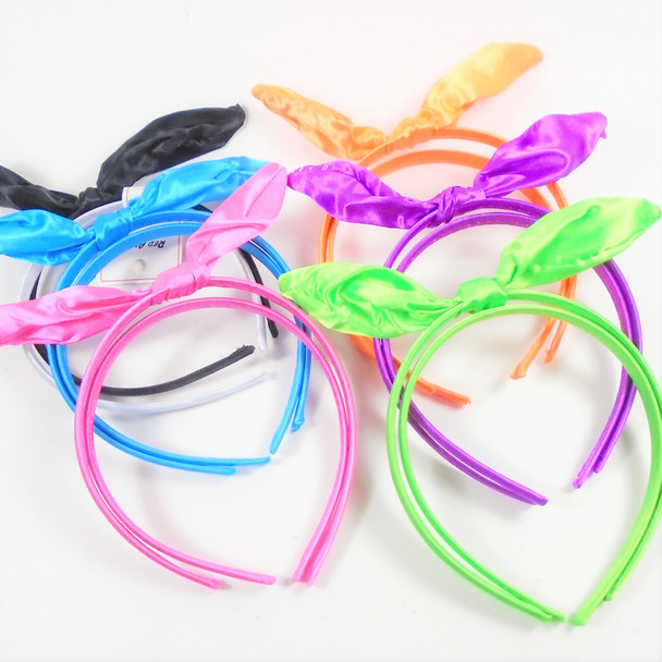 Trending 2 Pack Satin Headband Set w/ Wire Bow on Top  .56  per set