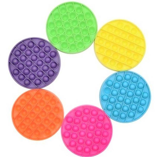 """5"""" Fidget Popper Round Mixed Neon Colors  12 per pk $ 1.65 ea"""