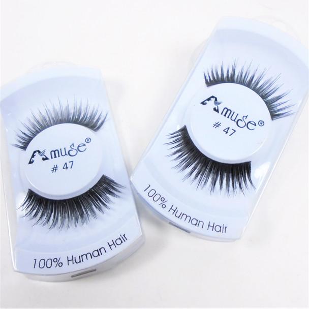 SPECIAL Handmade  Human Hair Eyelashes  (47)   .75 per set