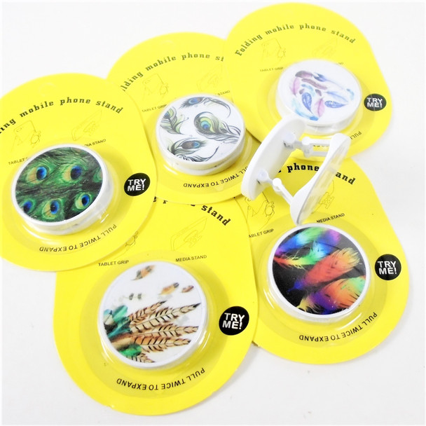 NEW STYLE POP UP Phone Stand Leaf Theme  12 per pk .58 each
