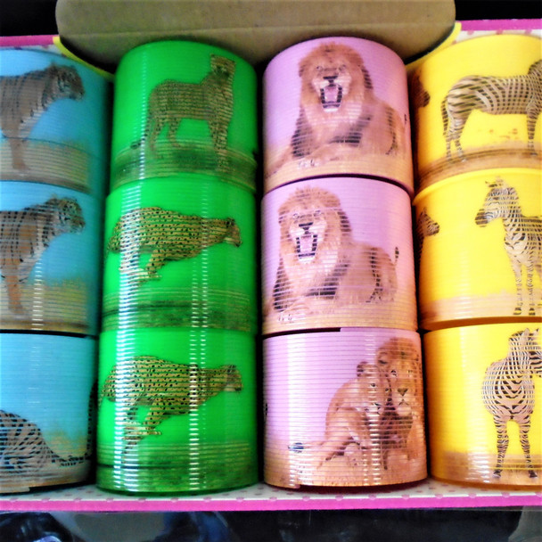"3"" Wild Animal Theme Magic Springs 12 per display  bx .65 each"