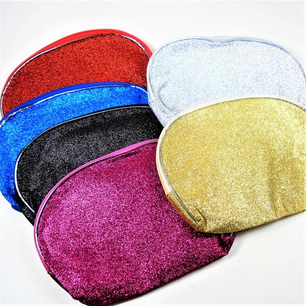 "6"" X 8"" Sparkle Finish Zipper Cosmetic Bags asst colors   .56 ea"