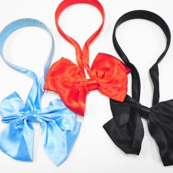 NEW Scarf Headband w/ Bow  Satin Asst Colors  .60 each