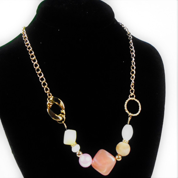 """20"""" Multi Style Beaded Fashion Gold CHain Necklace  .58 each"""