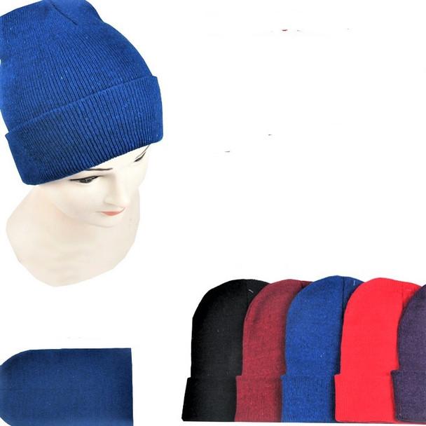 Children's Size Knit Winter Beanie Caps Mixed  Colors .62 each