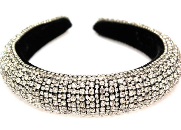 Silver Rhinestone Fashion Headbands w/ Clear Stones  sold by pc $ 4.50 ea