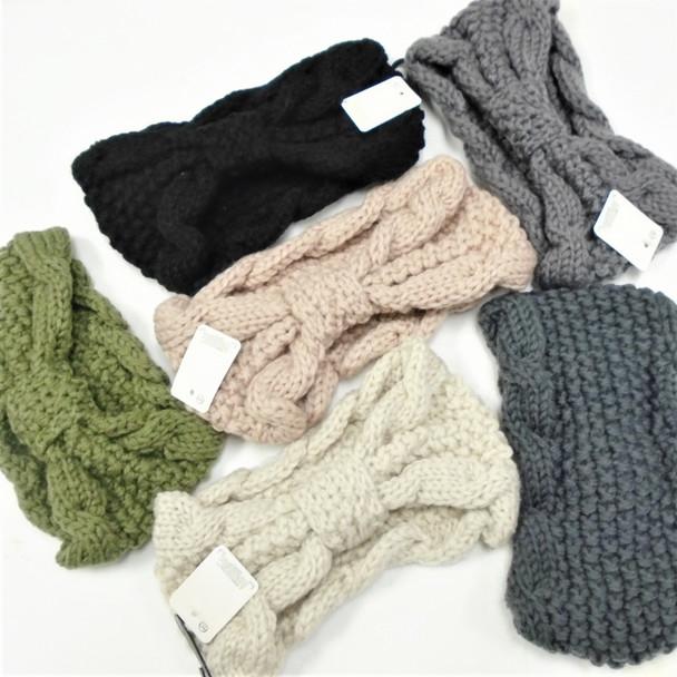 "4"" Winter Hand Knited Headbands Curled Ribbon Look  12 per pk  $ 2.33 each"