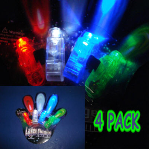 4 PacK Laser Finger Beams Rings  12 sets per pack   .65 per set