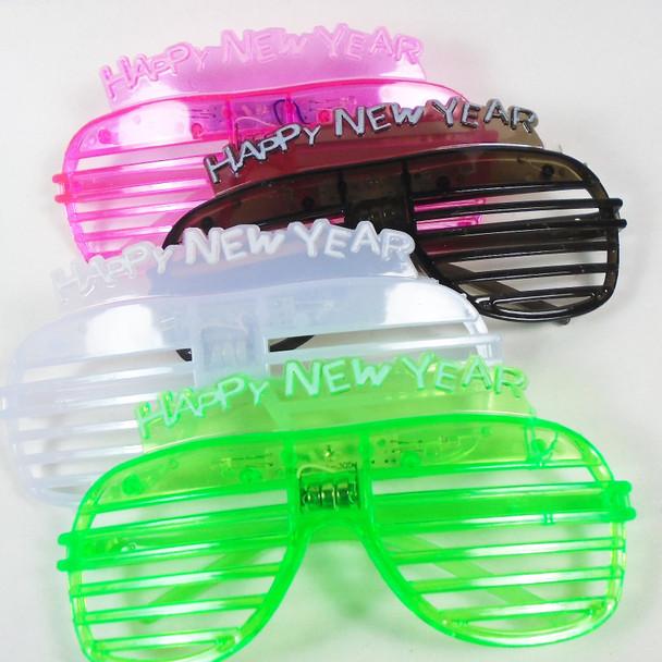 Flashing Happy New Year Novelty Glasses 12 per bx  .75 each