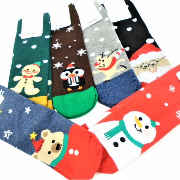 Great Quality Christmas Theme Anklet Socks  6 Styles    .75 per pair