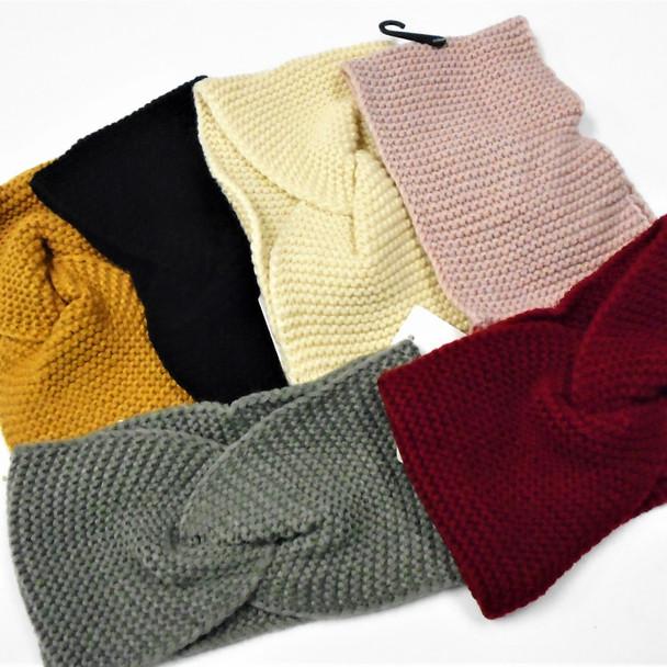 "4"" Winter Hand Knited Headbands 6 colors   12 per pk  $ 2.25 each"