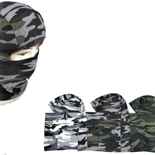 Stretch Fabric Ski Mask w/ Face Covering Camofauge   $ 1.62 ea