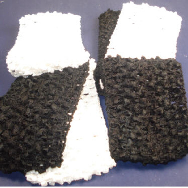 3 Pack 2.5'Wide Stretch Crochet Headwraps Blk & White