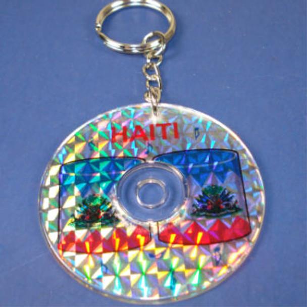 """2"""" Haiti Drum  Laser Disc Keychain"""