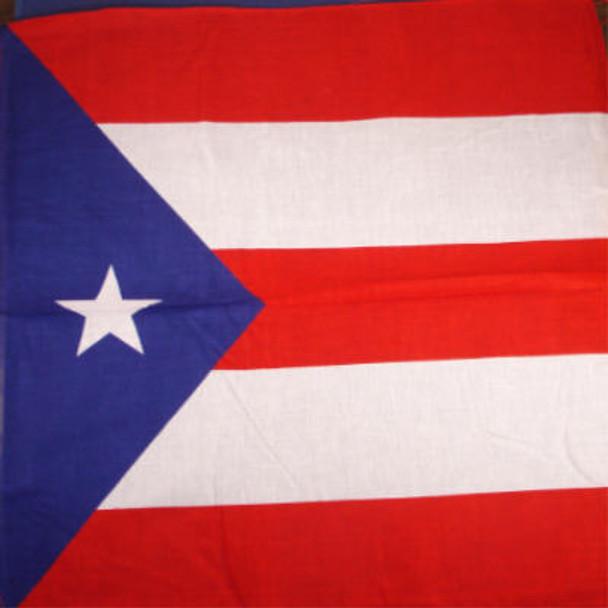 Bandana Puerto Rico Country Flag  100% Cotton .56 ea
