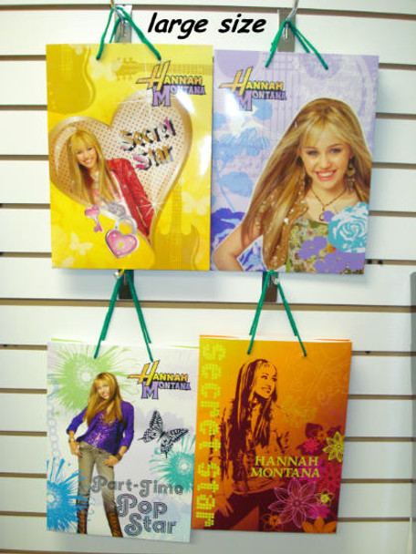 Hannah Montana Gift Bags Large Size CLOSEOUT 10 per pack .16 ea