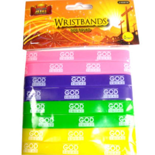Silicone God Squad Wristbands 192 pcs per pk .06 each