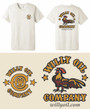Oatmeal Colored T-Shirt with Logo on the front and back