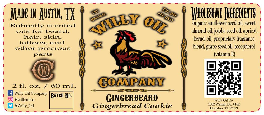 Gingerbread cookie, Vanilla Beard Oil