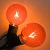 Amber G50 Bulbs with C9 Base