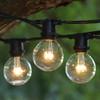 100' Black C9 Commercial Grade String Light with LED G50 Premium Bulbs