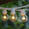 100' White C9 Commercial Grade String Light with LED G40 Premium Bulbs