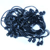 100' Black Commercial String Light Cord, Suspended Socket