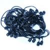100' Black Commercial String Light Cord, Suspended Socket
