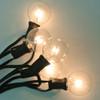 Black C7 String Light with Clear G40 Bulbs