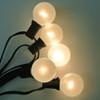 Black C7 String Light with White Satin G40 Bulbs
