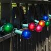 Green C7 String Light with Multi Satin G40 Bulbs
