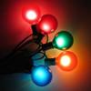 Green C7 String Lights with Multi Satin G50 Bulbs