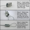 Steel Cable Guide Wire clip instructions