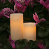Outdoor Battery Operated Candles Pair
