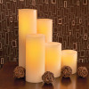 Wax Pillar Battery Operated Candle Group Cream