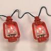 C7 Red Lantern String Lights lit