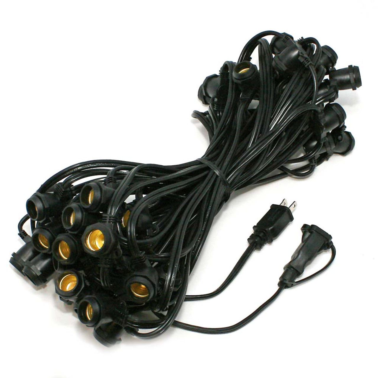 C9 Commercial String Lights 56 Ft Black Commercial C9 Cords