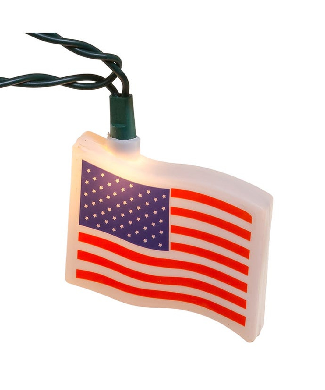 Patriotic Veterans July Election Olympics USA US Flag string Lights