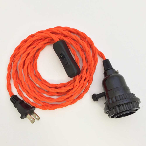 Orange Pendant Light Cord