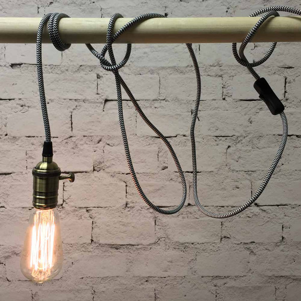 Zebra Pendant String Light with ST58 Edison Bulb