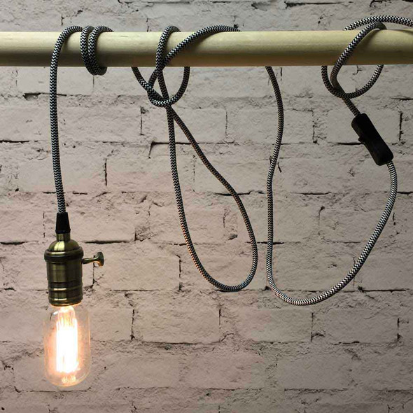 Zebra Pendant String Light with T14 Edison Bulb