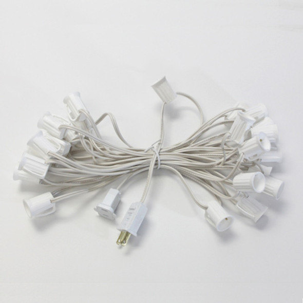 25' White C7 String Light Cord