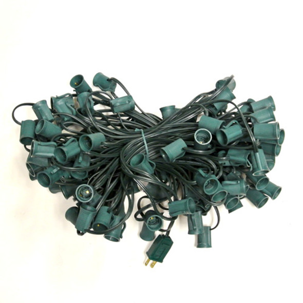 C9 String Light Cord - 100 foot green