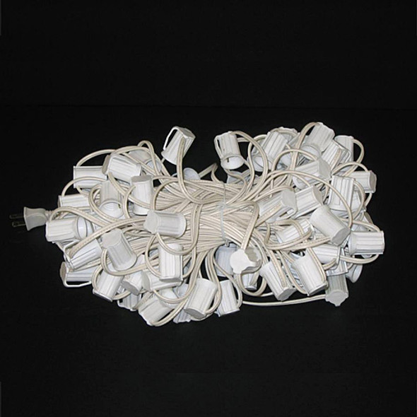 C9 String Light Cord - 100 foot white