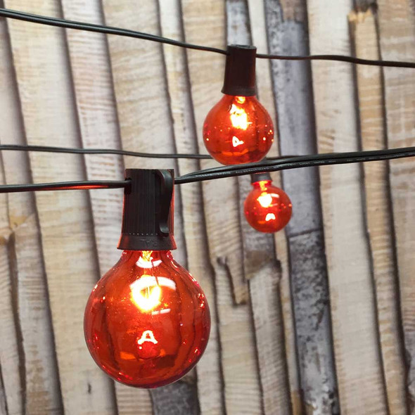Globe String Lights with Amber G50 Bulbs