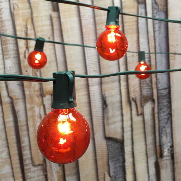 Amber Globe String Lights with G50 Bulbs