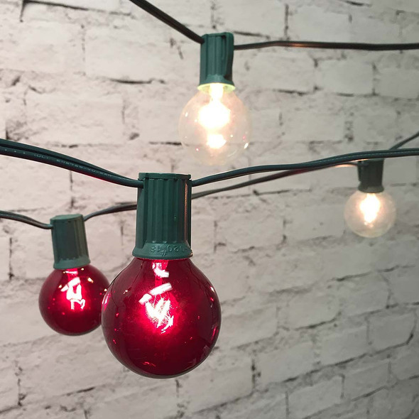 Red & White Globe String Lights