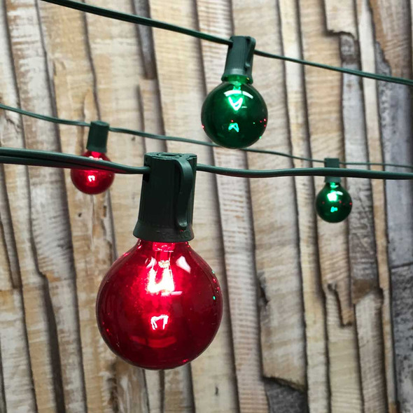 Christmas Globe String Lights with G50 Bulbs